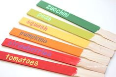 Paint Mixing Stick Garden Signs - Repeat Crafter Me