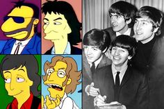 The Beatles  Appeared: Ringo Starr went first in 'Brush with Greatness' (1991); George Harrison was next in 'Homer's Barbershop Quartet' (1993); and Paul McCartney appeared alongside his wife Linda in 'Lisa the Vegetarian' (1997). Having inconveniently died sometime before the series premiered, John Lennon obviously never lent his voice to the show, but his likeness showed up in 'Treehouse of Horror XIX' (2008).    Best line: [After Homer is more impressed with George's chocolate brownie…