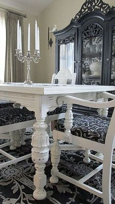 Painted Furniture Dining Room Table Update  Dining Room Table Inspiration Update Dining Room Chairs Design Inspiration