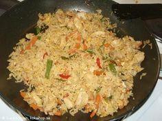 Recept - Stekt ris med kyckling