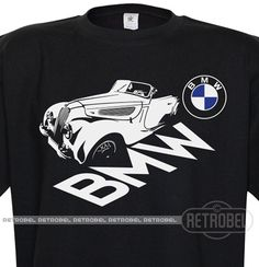 T-shirt BMW auto Black Retro car Classic Vintage by retrobel1