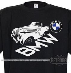 T-shirt BMW auto Black Retro car Classic Vintage by retrobel1