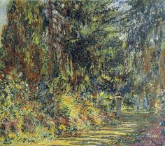 The Path at Giverny - Claude Monet 1902-03 Impressionism