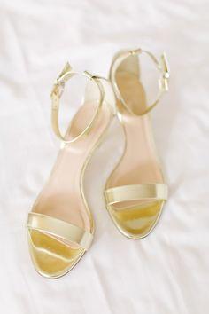 Gold sandals: http://www.stylemepretty.com/ohio-weddings/columbus/2015/07/29/blush-coral-downtown-columbus-wedding/   Photography: Leigh Elizabeth - http://www.leighelizabeth.com/