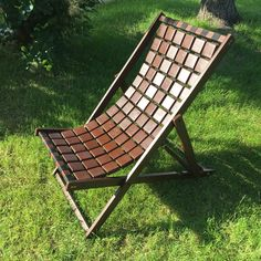 """DIY scrapwood sunbed / deck chair by YanoMaker - edition 2018 called """"Chocolate Bar""""🍫"""