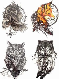 Tattoo lion 4PCS/SET Temporary Tattoo Combo - GKandaa.net