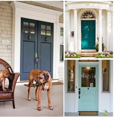 Beautiful and tempting front door paint colors. Paint It Monday| The Creativity Exchange