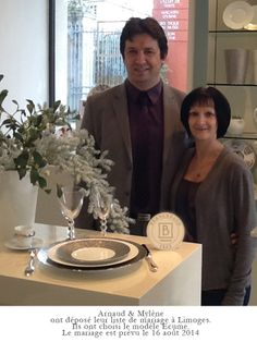 arnaud mylne ont dpos leur liste de mariage la boutique bernardaud de limoges - Galeries Lafayette Liste De Mariage