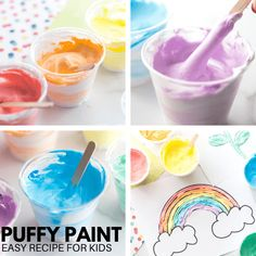Puffy Paint Recipe | Little Bins for Little Hands