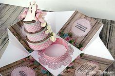 Scrappelyst: Eksplosjonskort med kake til bryllup