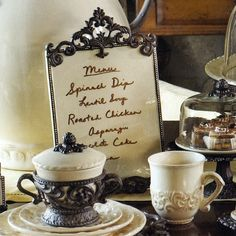 The old world design of this ceramic and metal message board from the GG Collection lets you leave a note or display a recipe with casual elegance.  Dry erase maker included.brbrliDimensions: 8....