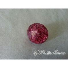 Dark pink glitter gloss vision ring. Price € 13,00