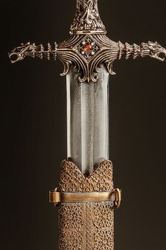 "Oathkeeper. ""Even the sound of it is sharper than an ordinary sword. Valyrian steel, spell-forged. It was a sword fit for a hero."""