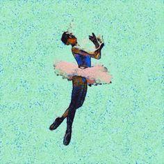 Painted dancing ballerina GIF by Ryan Enn Hunghes.