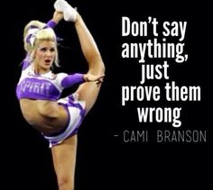 just prove them all wrong that cheer is a sport and is way harder than people think! Cheer Qoutes, Cheerleading Quotes, Gymnastics Quotes, Gymnastics Funny, Cheer Sayings, Cheerleading Stunting, Basketball Funny, Cheer Coaches, Cheer Stunts