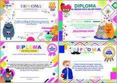 Diplomas para Papá para poner los nombres e imprimir o guardar. Certificados para Papá en el día del Padre. Ideas para regalar en día del padre. Map, Babyshower, Joker, Four Agreements, Happy Fathers Day, Literacy Activities, Location Map, Baby Shower, The Joker