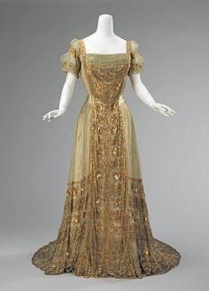 Ball gown ca. 1910 via The Costume Institute of the Metropolitan Museum of Art