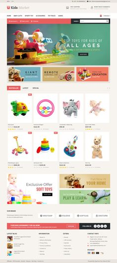 Kids Market is Premium full Responsive OpenCart eCommerce Multipurpose Theme. Retina Ready. Revolution Slider. Google Fonts. Test free demo at: http://www.responsivemiracle.com/cms/kids-market-premium-responsive-opencart-theme/