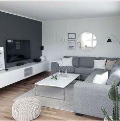 Simple Living Room, Elegant Living Room, Living Room Grey, Living Room Sofa, Living Room Interior, Home Living Room, Living Room Decor, Small Living, Apartment Living