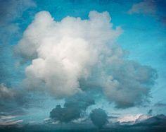 Lonely Cloud, Greece, Travel Photography, Home Decor, Shabby Blue, Crete, Europe, Fine Art via Etsy