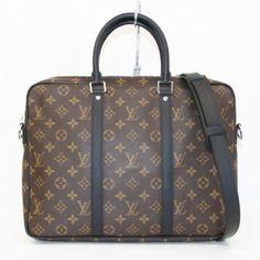 Auth LOUIS VUITTON PDV PM Monogram macassar line M52005 Handbag LV 235703