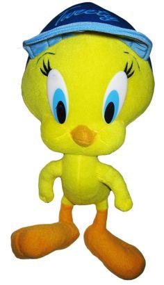 Tweety Bird Blue Ball Cap Plush Looney Tunes Warner Brothers Stuffed Animal Doll