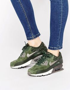 the best attitude dd007 8228a Nike Air Max 90 Carbon Green Trainers at asos.com