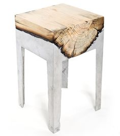 Cast Aluminum and Tree Trunk Furniture by Hilla Shamia Studio