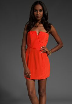 neon orange navan dress