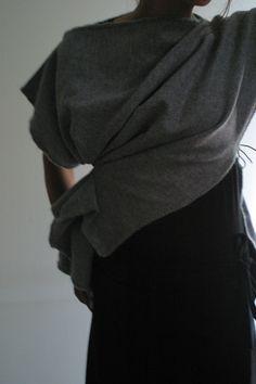 Grey Wool Jacket by NervousWardrobe on Etsy S/M by NervousWardrobe