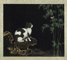 Shenzhen Lin(沈振麟) ,  清 沈振麟 畫耄耋同春 台北故宫博物馆藏