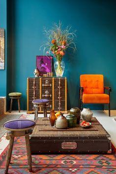 Maharaja 171 - Kreideemulsion - Kreidefarbe - dunkelgrüne Wand und Möbelfarbe