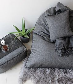 @onyxandsmoke Relaxabag from our NEW Herringbone collection. Our size for this versatile piece is designed with the Men in our lives in mind who often get overlooked with sizing for Floor Seating. Designed by Emma Mathews  Onyxandsmoke.com