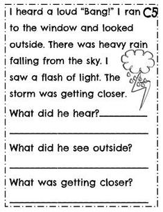 Leveled Reading Comprehension Passages ~ Guided Reading ~ Level C ~ Leveled Text Picture Comprehension, Reading Comprehension Worksheets, Reading Passages, Reading Strategies, Reading Skills, 4th Grade Math Worksheets, English Grammar Worksheets, Writing Worksheets, First Grade Writing Prompts