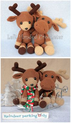 Randall the Reindeer free amigurumi pattern. Christmas Crochet Patterns, Crochet Animal Patterns, Stuffed Animal Patterns, Crochet Patterns Amigurumi, Crochet Animals, Stuffed Animals, Crochet Deer, Cute Crochet, Crochet Crafts