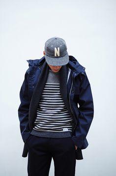 Blue gray minimalist Scandinavian design