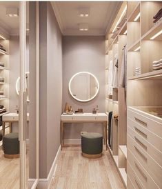 Trendy Small Closet Design Walk In Bedrooms Ideas- - wardrobe.- - Trendy Small Closet Design Walk In Bedrooms Ideas- – wardrobe. Small Closet Design, Walk In Closet Small, Small Closets, Closet Designs, Walk Through Closet, Small Master Closet, Dream Closets, Small Rooms, Small Spaces