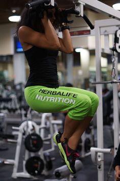 Herbalife Nutrition capri joggers, green