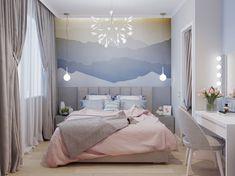 Interior Walls, Home Interior, Interior Design, Design Logo, Flat Design, Girl Bedroom Designs, Girls Bedroom, Design Bedroom, Design Studio