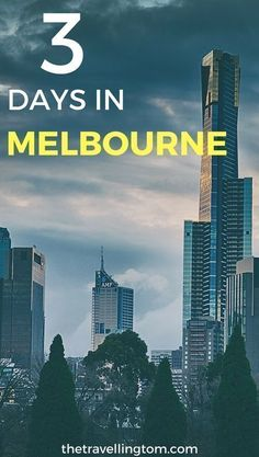 3 Days in Melbourne is a short time to see everything that the city has to offer, but it stills leave you with lots of time to see a decent smount of the city! Melbourne is one of the most beautiful cities in Australia, and well worth visiting! Check out Tasmania Australia, Australia Tourism, Australia Travel Guide, Visit Australia, South Australia, Western Australia, Australia Trip, Coast Australia, Melbourne Travel