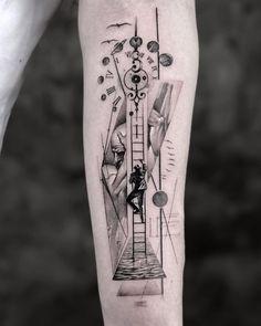 Tatuagem Em Braille, Braille Tattoo, Cool Forearm Tattoos, Arm Sleeve Tattoos, Body Art Tattoos, Geometric Wolf Tattoo, Geometric Tattoo Design, Rose Tattoos For Men, Arm Tattoos For Guys