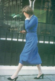 Lady Diana Spencer, already trying to hide from the intrusive press
