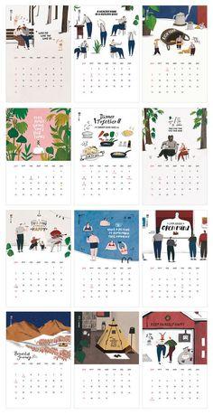 2016 calendar consisting of a variety of … – Breakfast Recipes Design Poster, Book Design, Layout Design, Design Design, Graphic Design Magazine, Magazine Design, Kalender Design, Printable Calendar Template, Kids Calendar