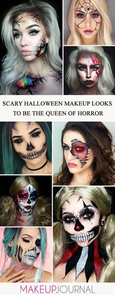 You can find the most extravagant, scary Halloween makeup looks in our gallery. Check them out and pick something really dreadful. #makeup #makeuplover #makeupjunkie #halloweenmakeup