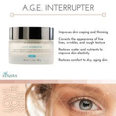 SkinCeuticals A.G.E. Interrupter is the fountain of youth in a jar! LOVE this product to erase signs of aging.