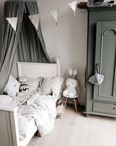 Grey & Green: A stylish colour combo for boys or girls - Pet.-Grey & Green: A stylish colour combo for boys or girls – Petit & Small Grey & Green: A stylish colour combo for boys or girls- Petit & Small - Baby Room Decor, Girls Bedroom, Girl Rooms, Bedroom Ideas, Bedroom Decor, Boy Bedrooms, Kid Spaces, Small Spaces, Color Combos