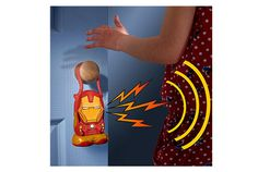 Go Glow héros Avengers Iron Man. La lampe de poche 3 en 1 : détecteur de mouvement, enregistreur de voix et lampe de pochedétecteur de mouvement
