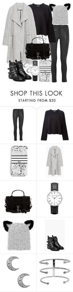"""Untitled #19515"" by florencia95 ❤ liked on Polyvore featuring Frame Denim, T By Alexander Wang, Rianna Phillips, Zara, Proenza Schouler, Eugenia Kim, MANGO, Michael Kors, women's clothing and women's fashion"