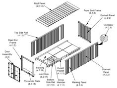 Shipping Container Home - RSCP - Exploded Shipping Container Image If you like please follow our boards!