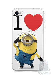 Capa Iphone 4/S I Love Minions - SmartCases - Acessórios para celulares e tablets :)